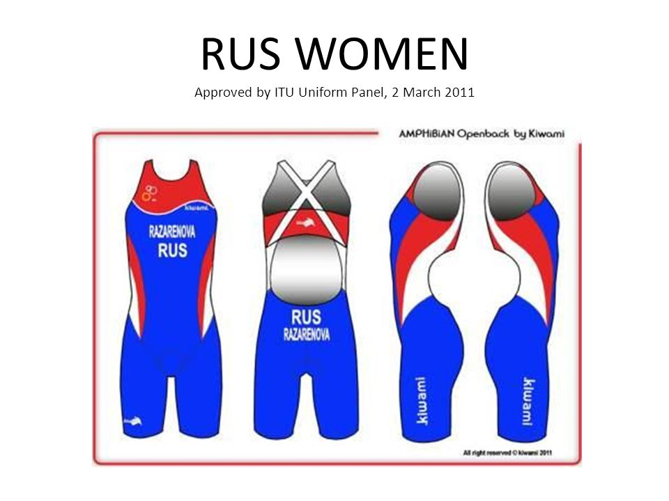 RUS WOMEN Approved by ITU Uniform Panel, 2 March 2011