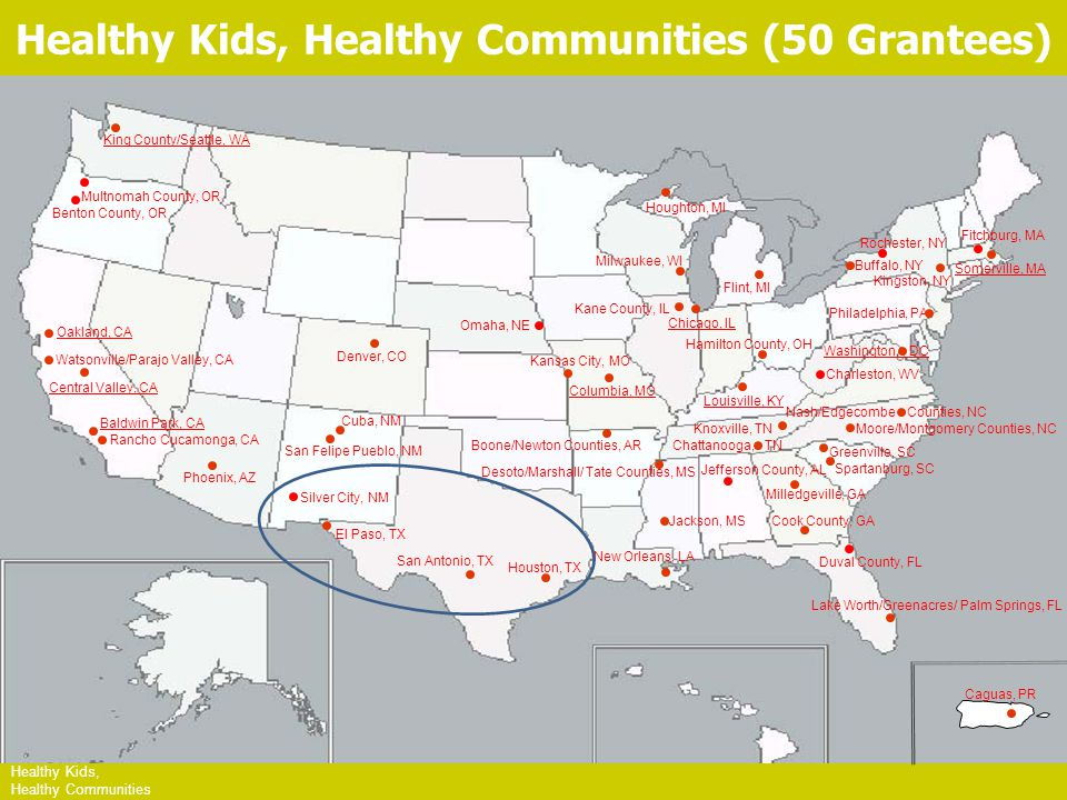 HKHC Leading Site Communities Healthy Kids, Healthy Communities King County/Seattle, WA Oakland, CA Central Valley, CA Baldwin Park, CA Columbia, MO C