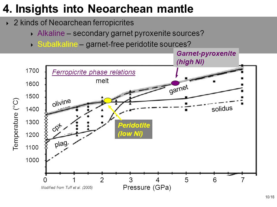 10/18 4.Insights into Neoarchean mantle Modified from Tuff et al.