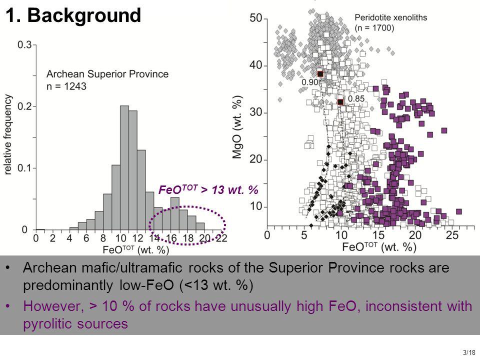 Archean mafic/ultramafic rocks of the Superior Province rocks are predominantly low-FeO (<13 wt.