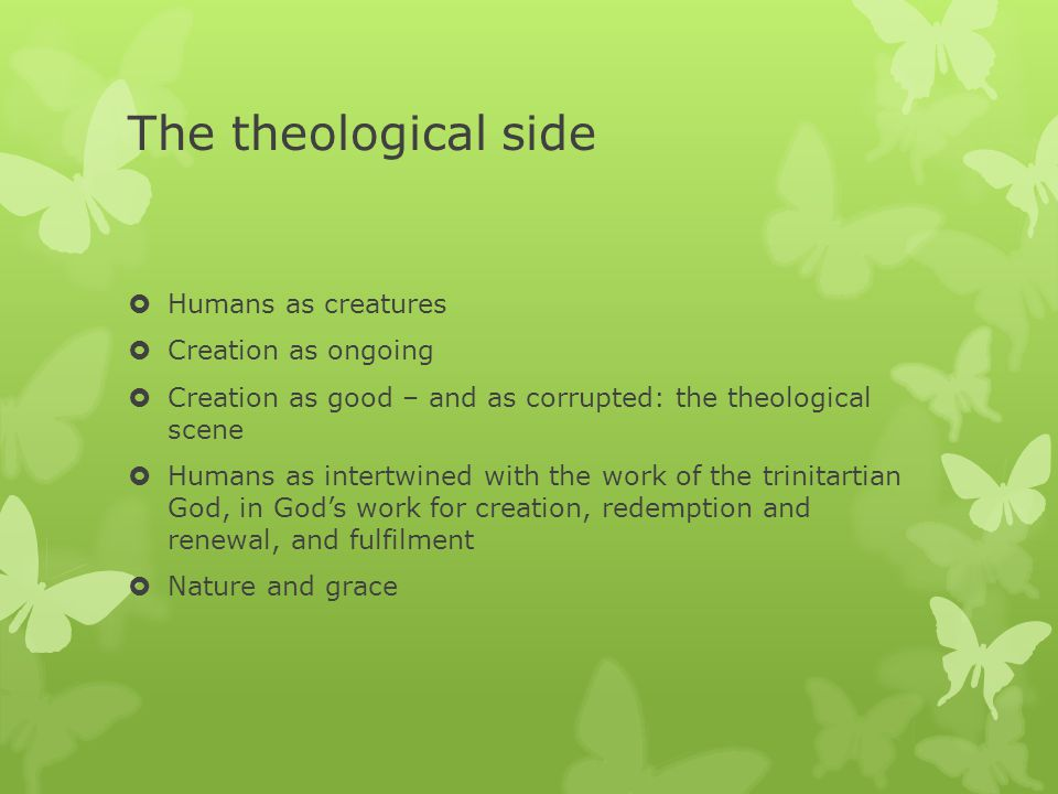 The empirical (scientific) side  Humanity as evolved  Natural Selection  Anthropic principle(s).