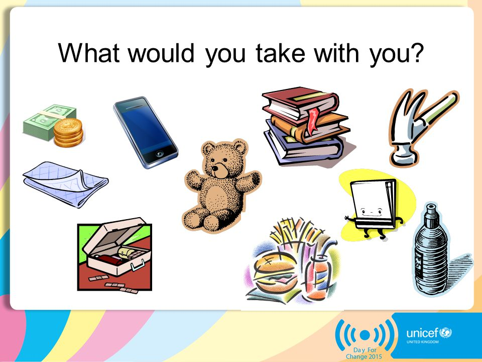 What would you take with you?