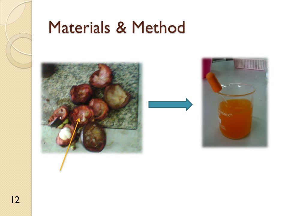 Materials & Method 12