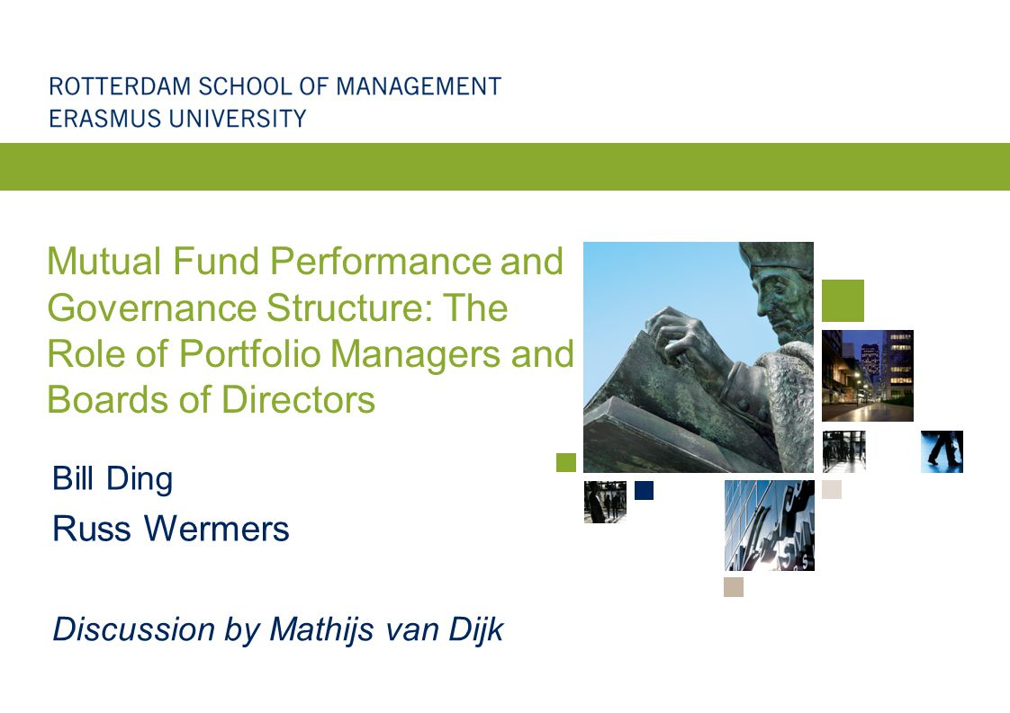 What this paper does Study of the relation between mutual fund performance and mutual fund governance Strengths: –Fascinating topic, underexplored, relevant for regulators –Great data on fund manager careers –Great data on mutual fund boards (independence) –Careful analysis, new results –Nuanced story