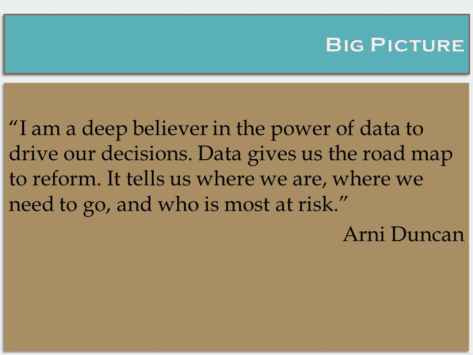 I am a deep believer in the power of data to drive our decisions.