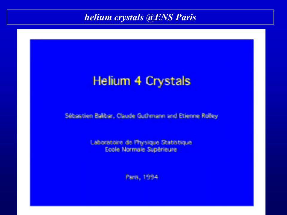 helium crystals @ENS Paris