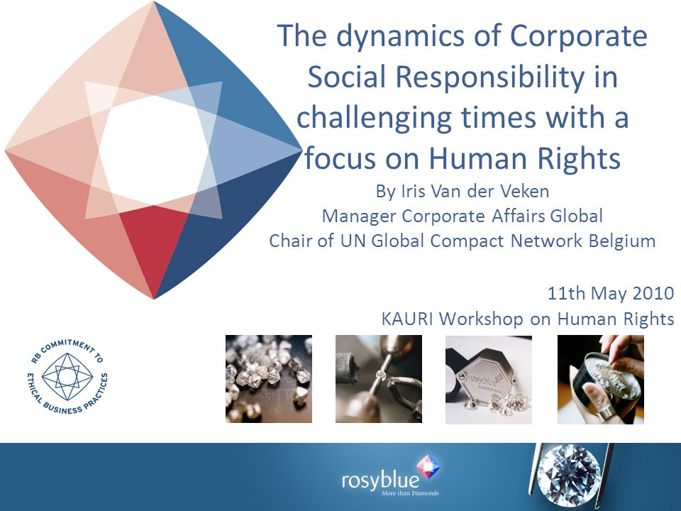 11th May 2010 KAURI Workshop on Human Rights The dynamics of Corporate Social Responsibility in challenging times with a focus on Human Rights By Iris