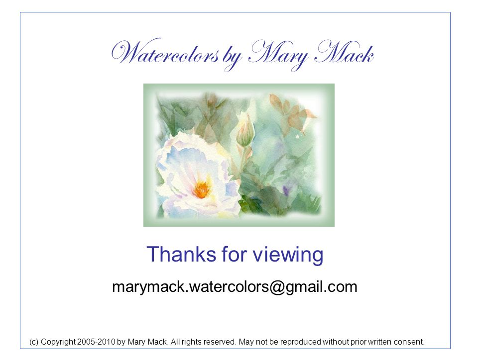 (c) Copyright 2005-2010 by Mary Mack. All rights reserved.
