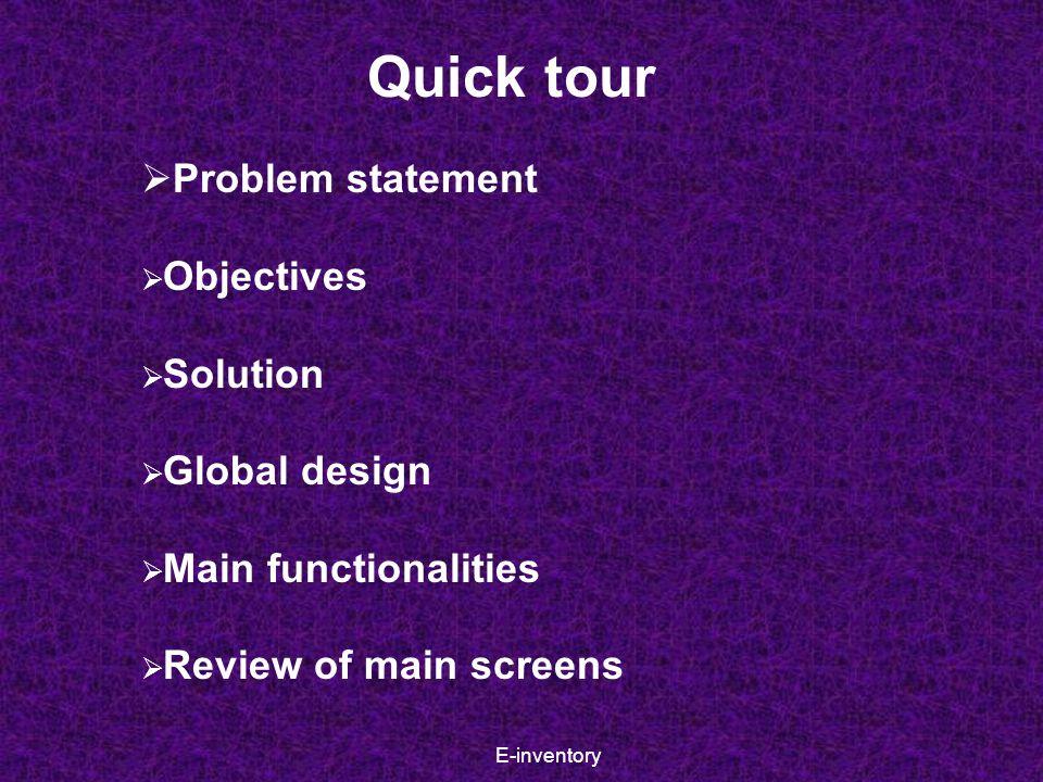 E-inventory Login screen