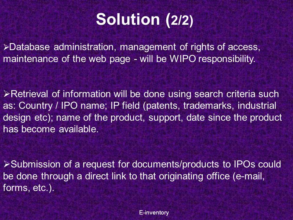 E-inventory Global design