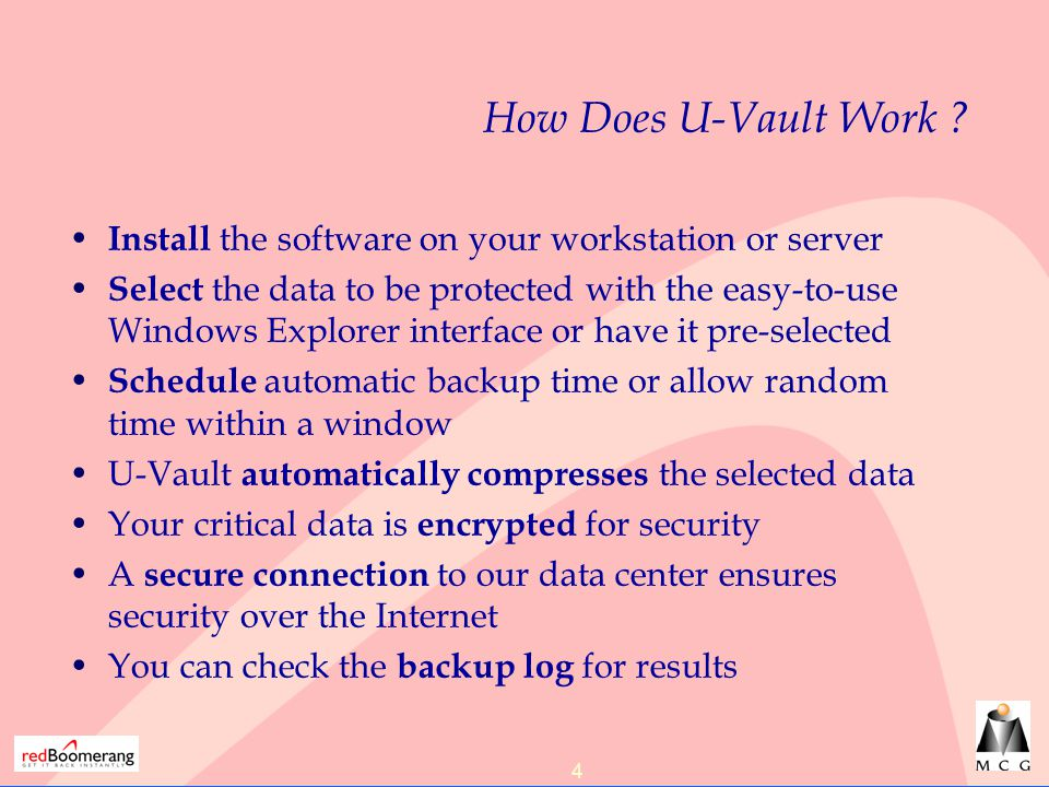 4 How Does U-Vault Work .
