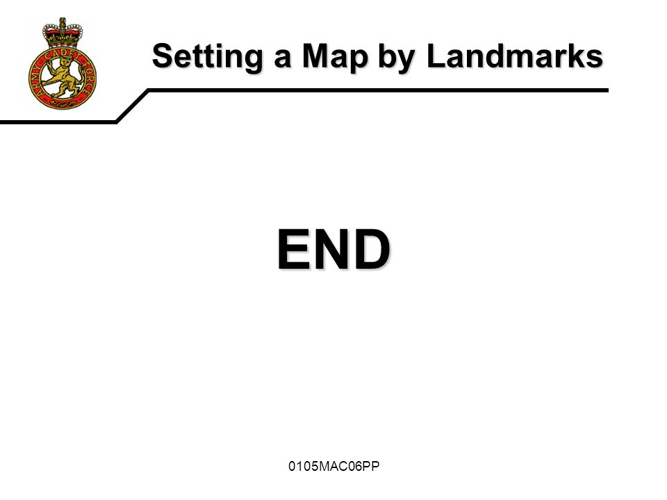 0105MAC06PP Setting a Map by Landmarks END