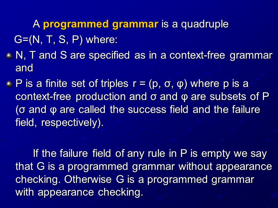 We will consider another interpretation of the programmed grammars: as graphs.
