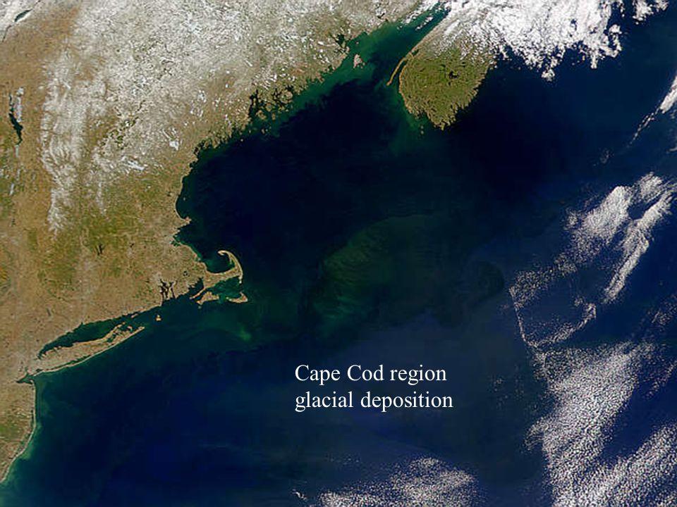 Cape Cod region glacial deposition
