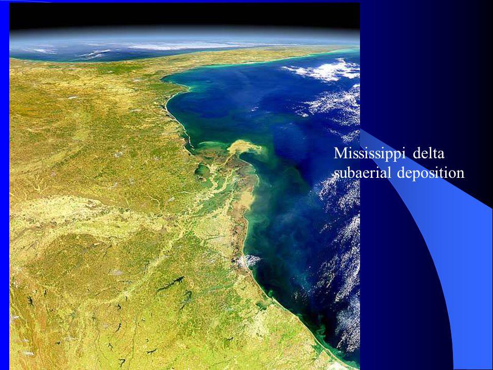 Mississippi delta subaerial deposition
