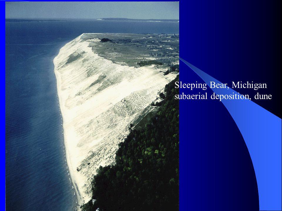 Sleeping Bear, Michigan subaerial deposition, dune