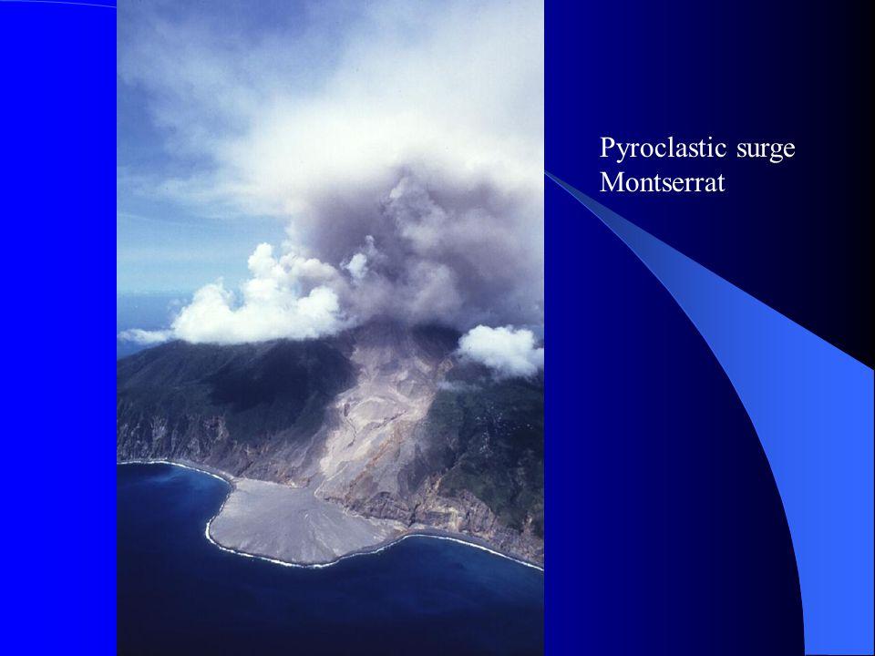 Pyroclastic surge Montserrat