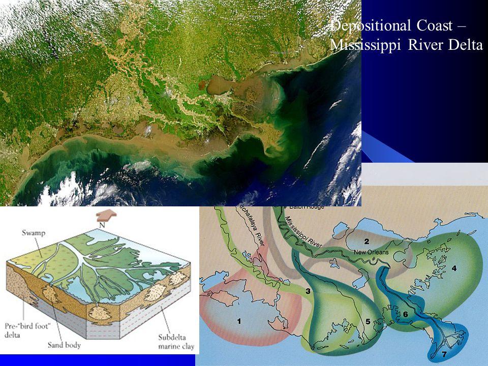 Depositional Coast – Mississippi River Delta