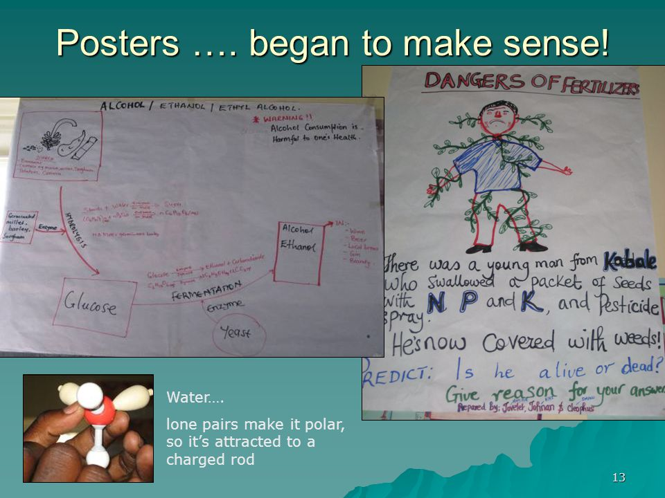 13 Posters …. began to make sense. Water….