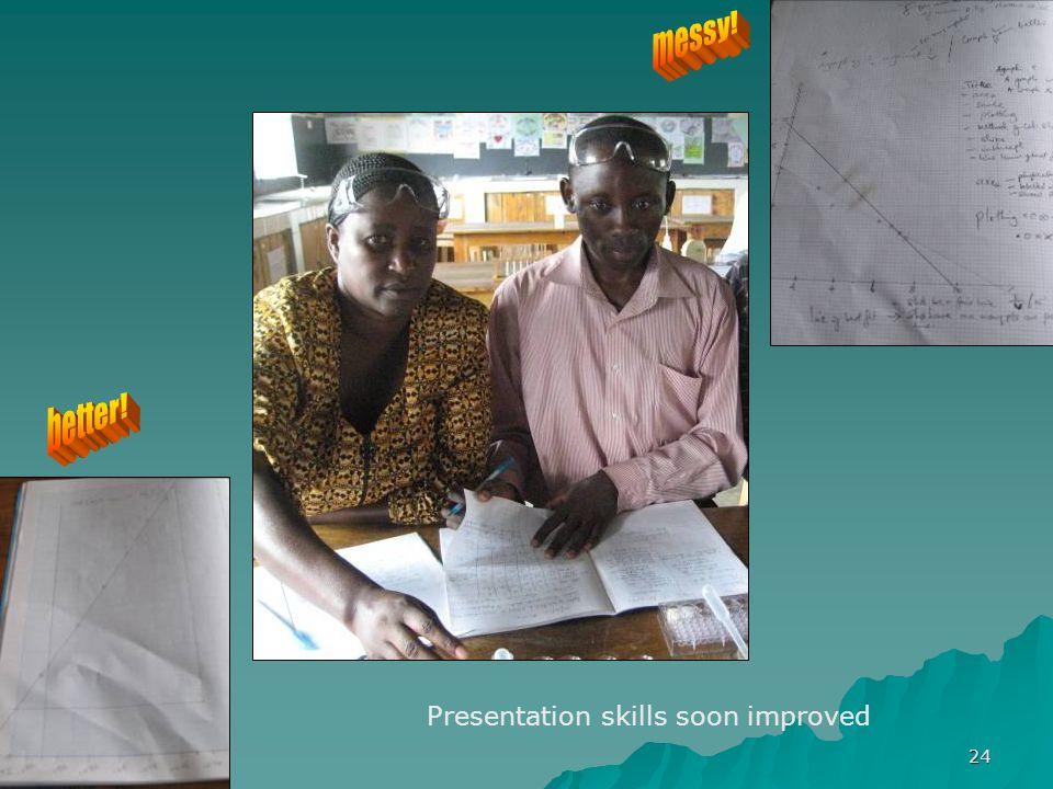 24 Presentation skills soon improved