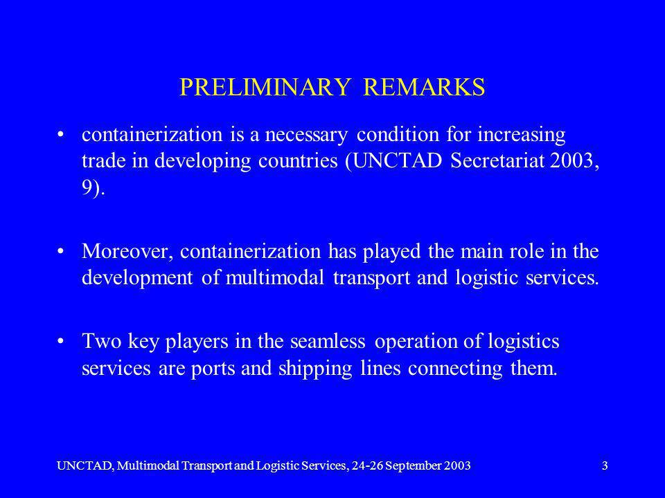 UNCTAD, Multimodal Transport and Logistic Services, 24-26 September 20034 In order for ports to prosper they must be well connected.