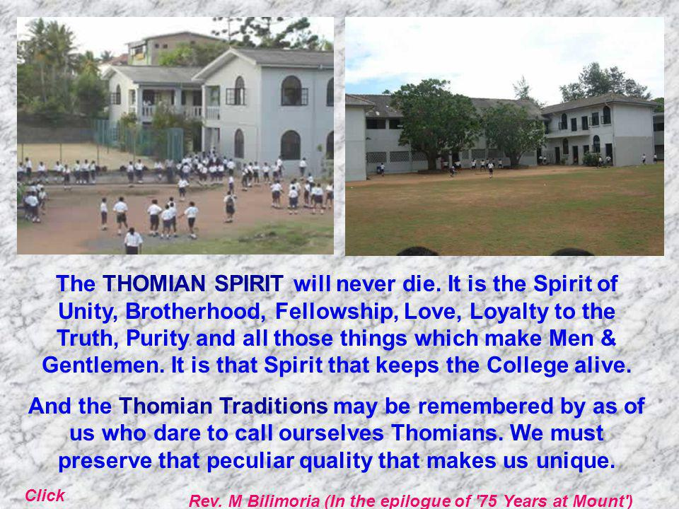 The THOMIAN SPIRIT will never die.