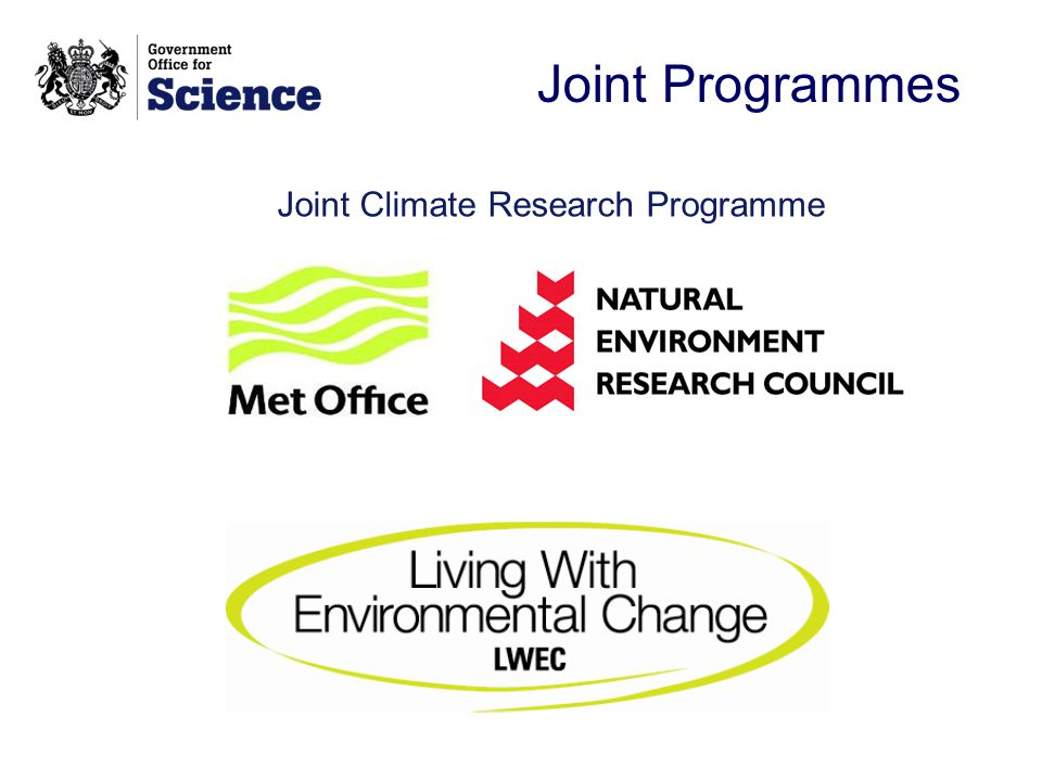 Joint Programmes Joint Climate Research Programme