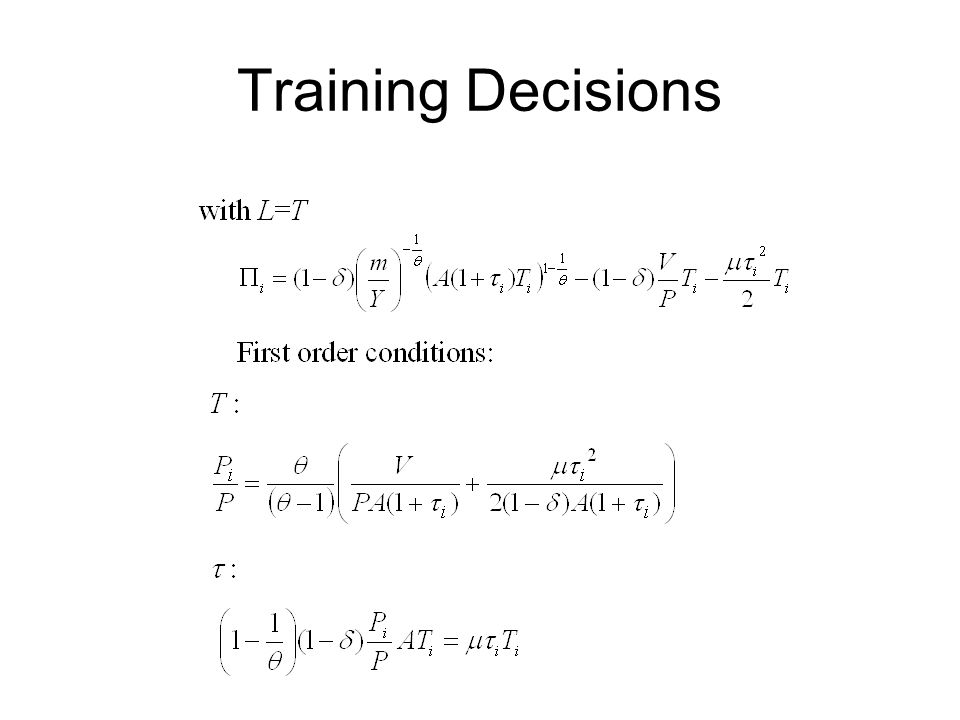 Training Decisions