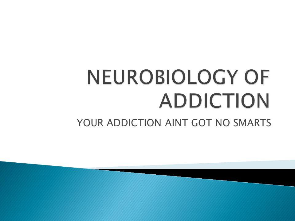 YOUR ADDICTION AINT GOT NO SMARTS