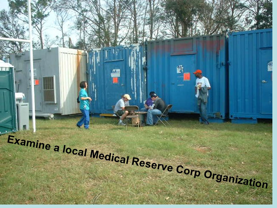 Examine a local Medical Reserve Corp Organization