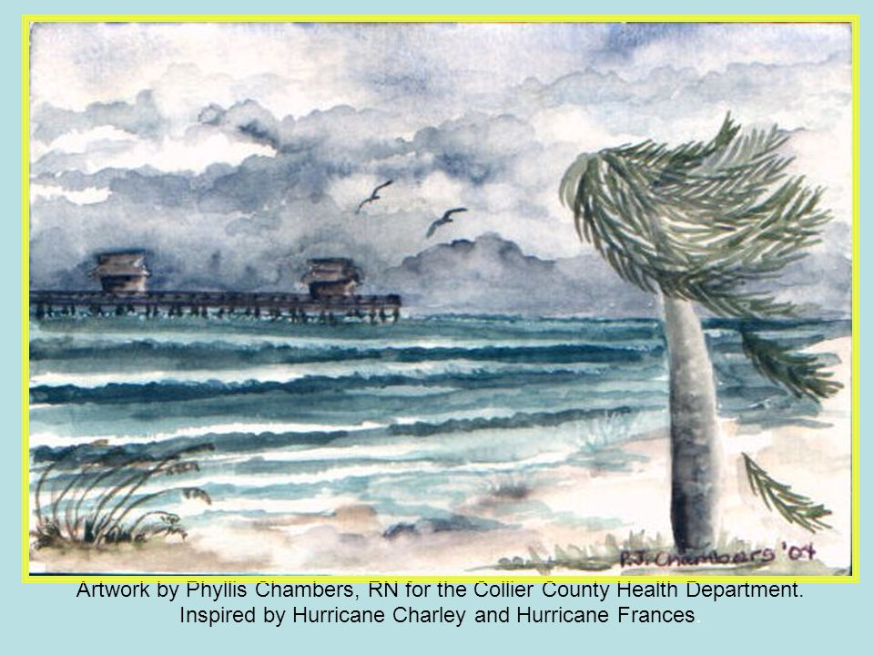 Artwork by Phyllis Chambers, RN for the Collier County Health Department.