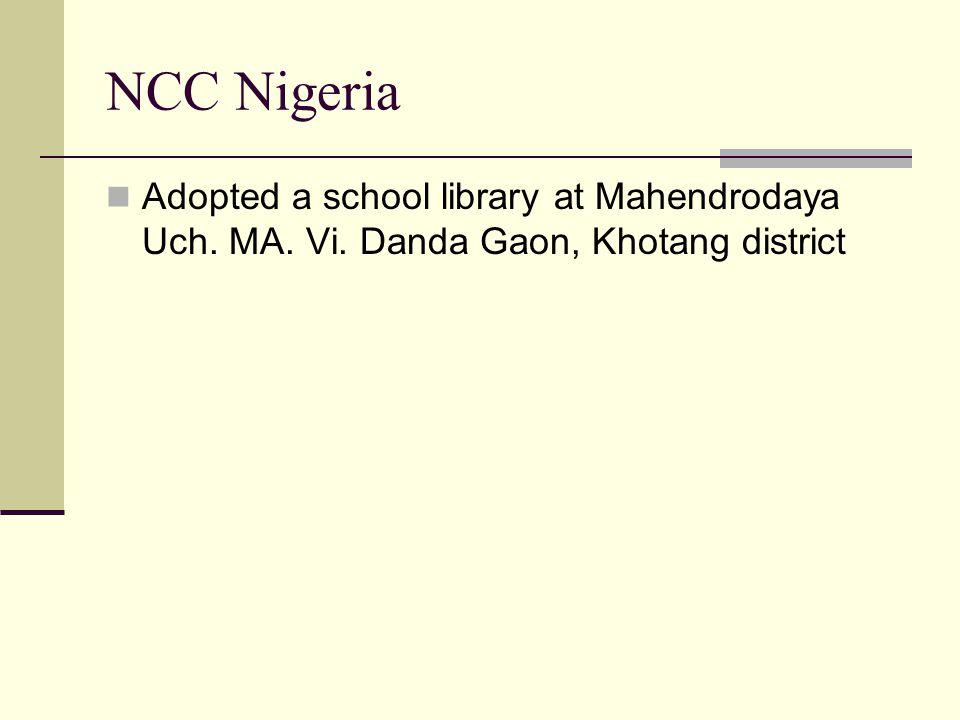 NCC Nigeria Adopted a school library at Mahendrodaya Uch. MA. Vi. Danda Gaon, Khotang district