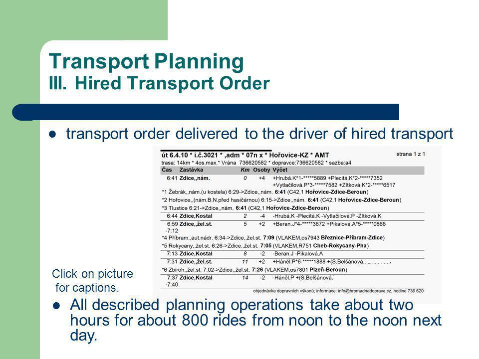 Transport Planning III.