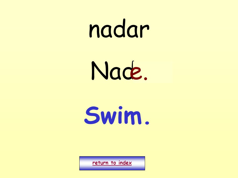 nadar Nado return to index e. Swim.