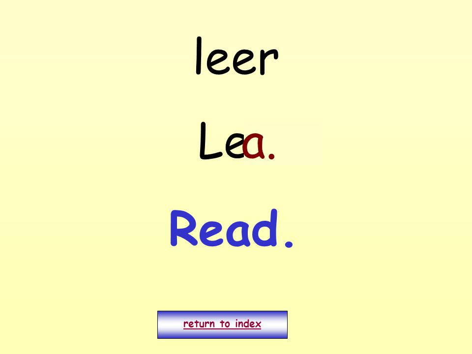 leer Leo return to index a. Read.