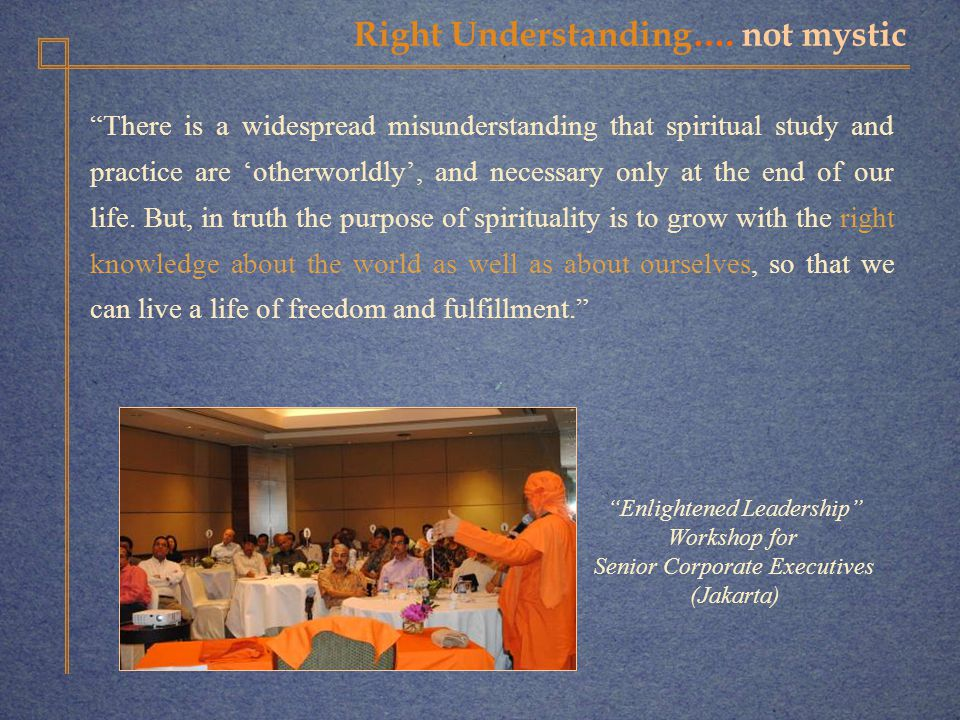 Right Understanding….