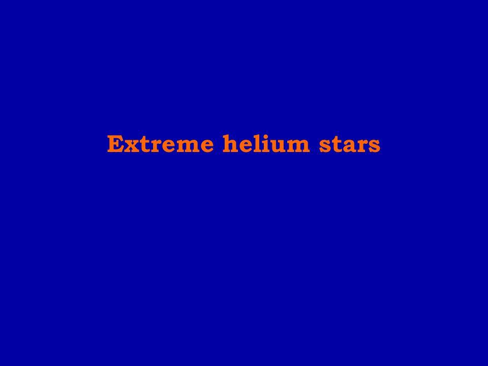 Extreme helium stars