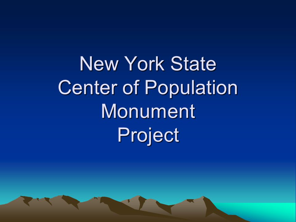 New York State Center of Population Monument Project