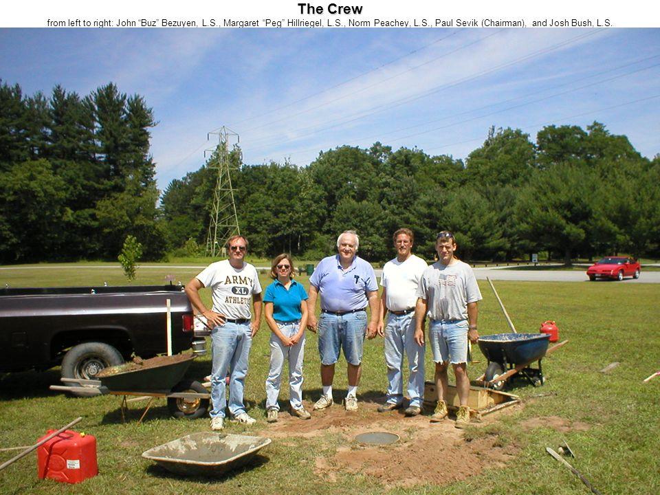 "The Crew The Crew from left to right: John ""Buz"" Bezuyen, L.S., Margaret ""Peg"" Hillriegel, L.S., Norm Peachey, L.S., Paul Sevik (Chairman), and Josh B"