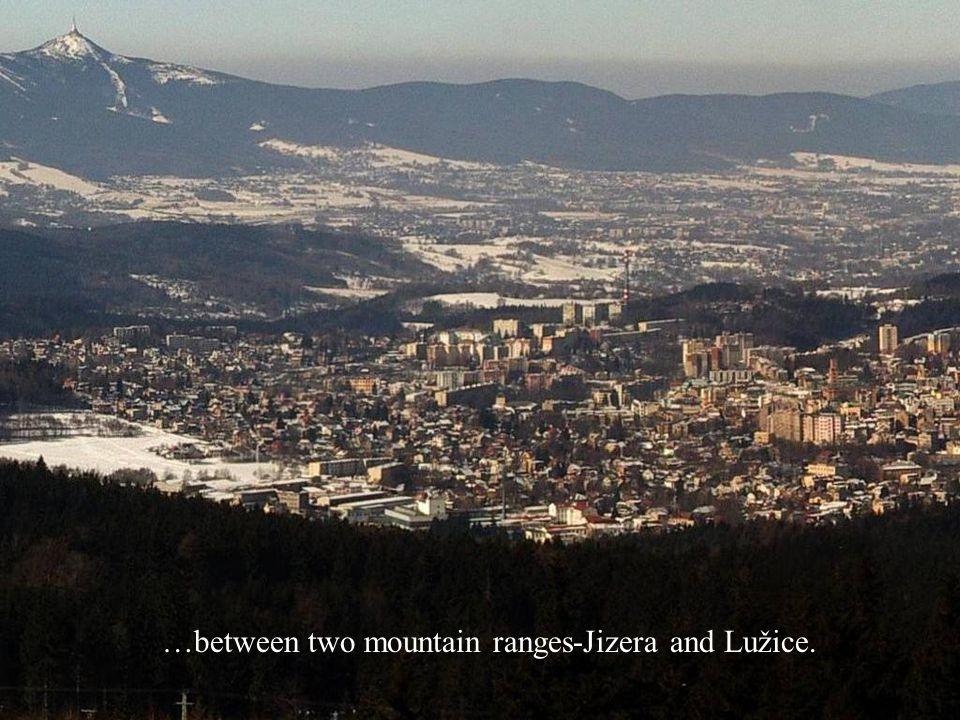 The highest point of them is Ještěd.