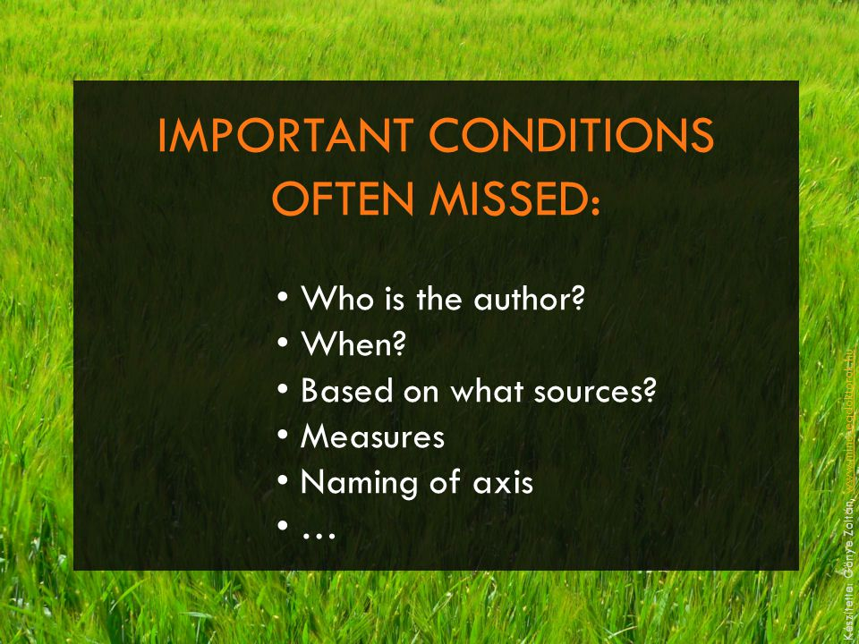 IMPORTANT CONDITIONS OFTEN MISSED: Who is the author.