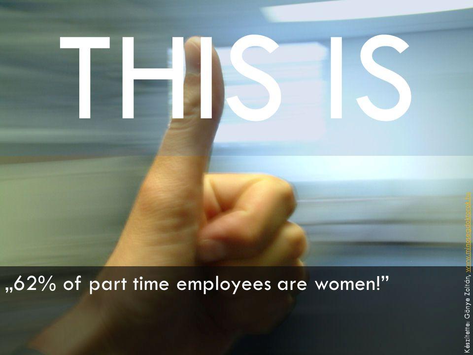 """THIS IS """"62% of part time employees are women!"""" Készítette: Gönye Zoltán, www.minosegdoktorok.huwww.minosegdoktorok.hu"""