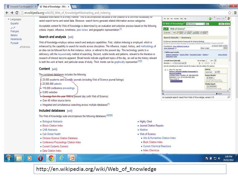 http://en.wikipedia.org/wiki/Web_of_Knowledge