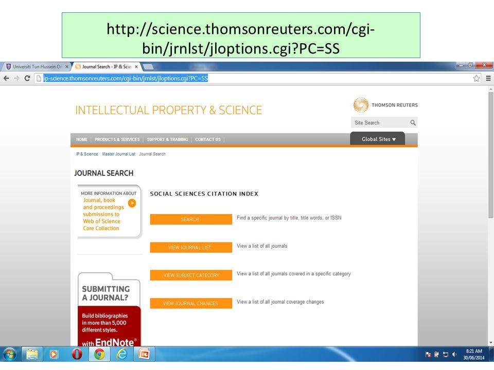 http://science.thomsonreuters.com/cgi- bin/jrnlst/jloptions.cgi PC=SS