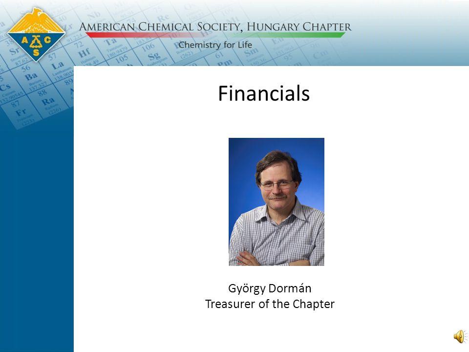 Financials György Dormán Treasurer of the Chapter