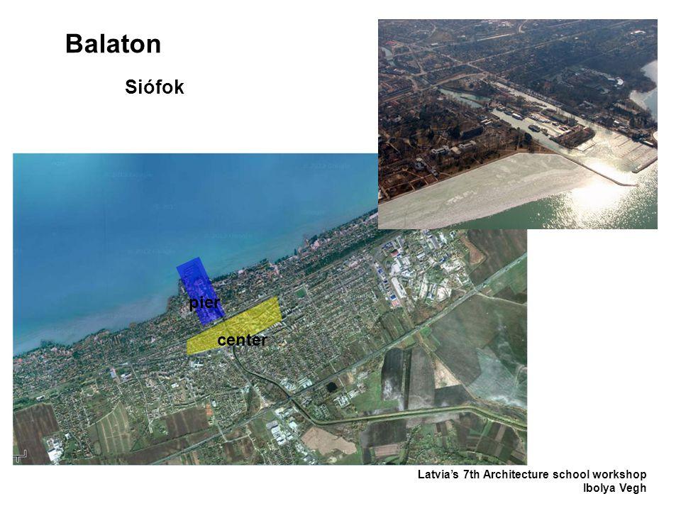 Balaton Latvia's 7th Architecture school workshop Ibolya Vegh Siófok center pier