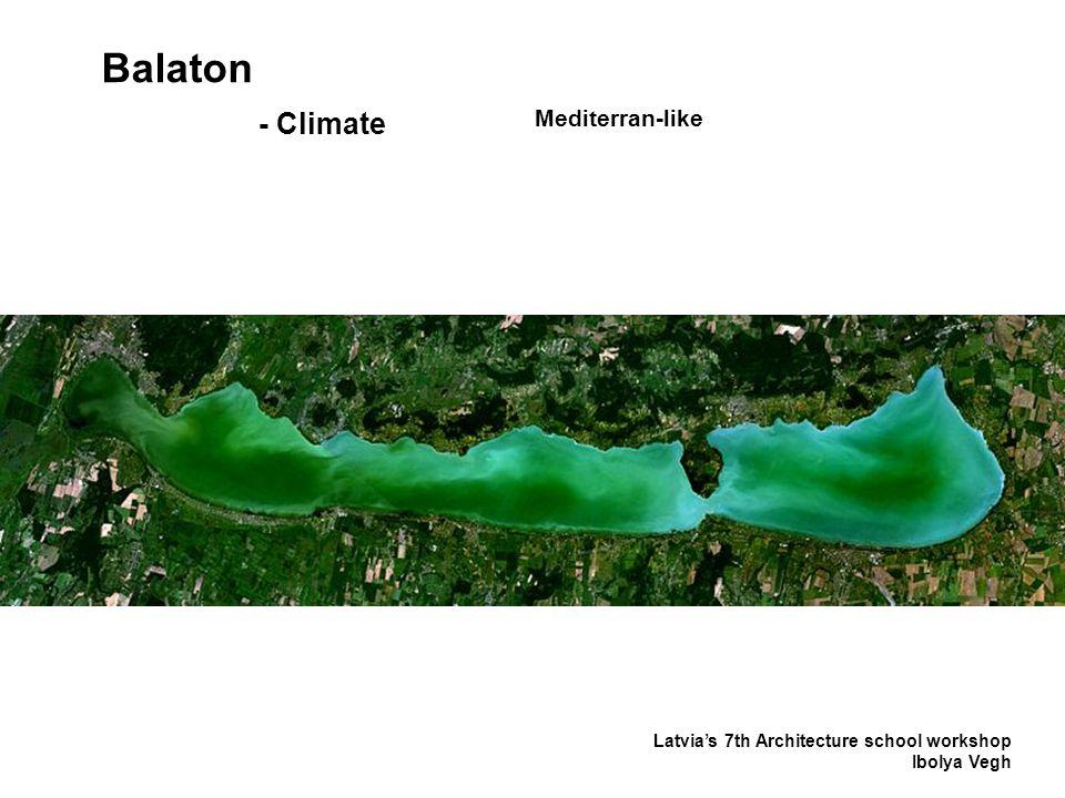 Balaton Latvia's 7th Architecture school workshop Ibolya Vegh - Climate Mediterran-like