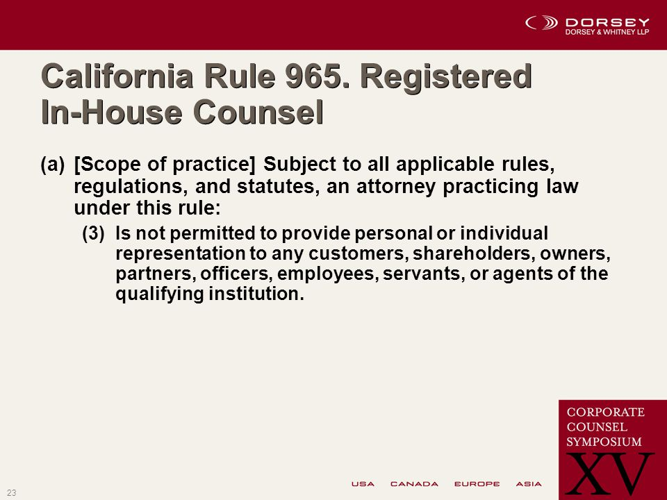 23 California Rule 965.
