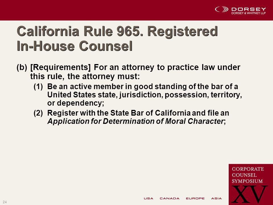 24 California Rule 965.