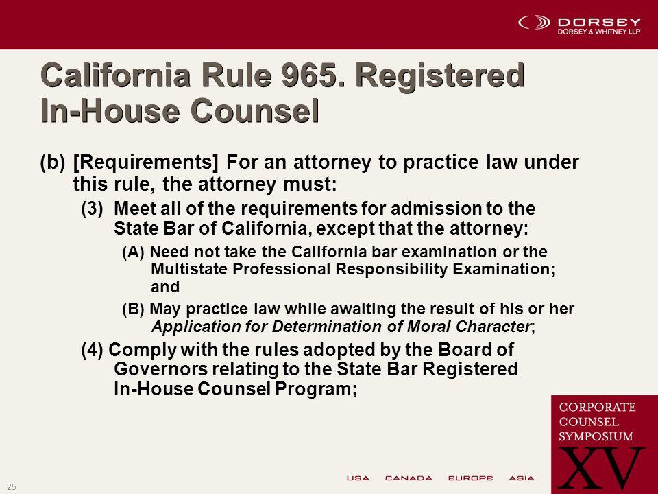 25 California Rule 965.